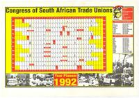 Congress of South African Trade Unions: Year Planner 1992