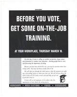 Before you vote, get some on-the-job training