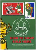 Postage stamps: Rugby World Cup winners