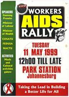 Workers AIDS rally