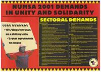 NUMSA 2001 demands in unity and solidarity