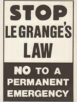Stop Le Grange's Law. No to a permanent emergency