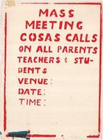 Mass meeting: COSAS calls on all parents, teachers and students