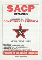 SACP demands an elected non-racial constituent assembly