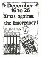 December 16 to 26 Xmas against the emergency!