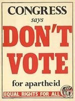 Congress says don't vote for apartheid