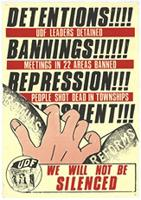 Detentions!!!!: bannings!!!!!!: repression!!!