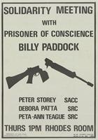 Solidarity meeting with prisoner of conscience Billy Paddock