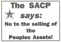 The SACP says : no to the selling of the peoples assets