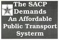 The SACP demands an affordable public transport system