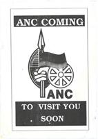 ANC coming to vist you soon