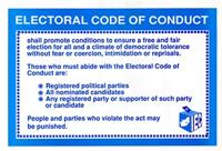 Electoral code of conduct