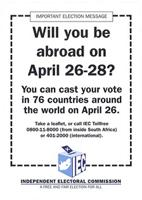 Will you be abroad on April 26 - 28?