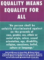 Equality means equality for all