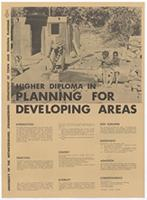 Higher diploma for planning in developing areas