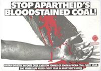 Stop apartheid's bloodstained coal!