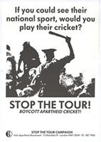 Stop the tour: boycott apartheid cricket!