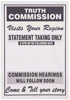 Truth Commission visits your region: statement taking only