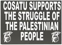 COSATU supports the struggle of the Palestinian people