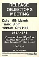 Release objectors meeting