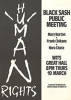 Black Sash public meeting
