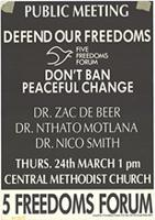 Public Meeting : Defend our freedoms : Don't ban peaceful change