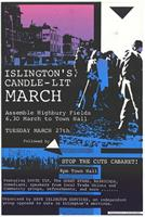 Islington's candle lit march