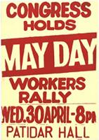 Congress holds may day workers rally