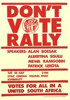 Don't vote rally