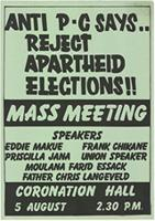 Anti P-C says .. : Reject apartheid elections !!