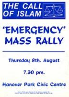 The call of Islam: 'Emergency mass rally'