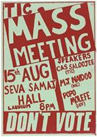 Mass meeting: don't vote