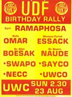 UDF birthday rally