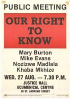 Our right to know