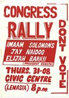 Congress rally: don't vote