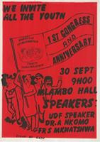 We invite all the youth: 1st Congress and Anniversary