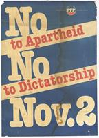 No to apartheid: no to dictatorship: Nov. 2