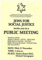 Jews for social justice invite you to a public meeting