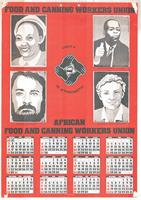 Food And Canning Workers Union 1983 Calendar