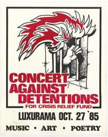Concert against detentions for crisis relief fund