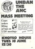 Unban the ANC Mass Meeting