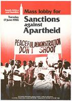 South Africa and Namibia: mass lobby for sanctions against apartheid