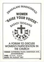 Women: Raise your voices