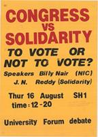 Congress vs solidarity: to vote or not to vote