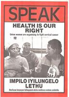 SPEAK: Health is our Right