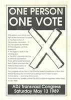 One person: one vote