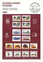 Postage stamps: fourth quarter 1989