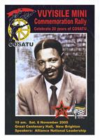 Vuyisile Mini: commemoration rally