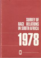 Survey of race relations in South Africa: 1978