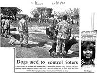 Dogs used to control rioters